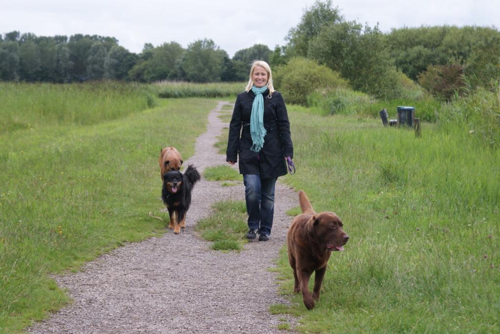 Eefje en drie honden