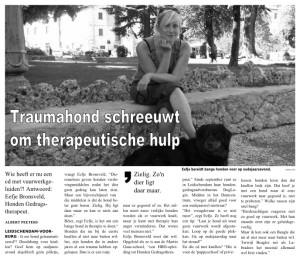 artikel kleine posthoorn 7 december 2007 - Traumahond schreeuwt om therapeutische hulp